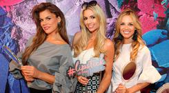 Rosalind Lipsett, Rosanna Davison and Ruth O'Neill at the launch of Ireland's first standalone Urban Decay Boutique at Grafton Street, Dublin. Picture: Brian McEvoy