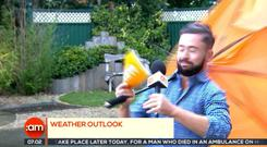 The wind got the better of Deric Hartigan on TV3