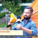 The wind got the better of Deric Hartigan on TV3 this morning!