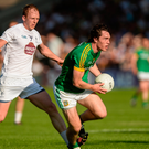 Padraic Harnan of Meath in action against Keith Cribbin of Kildare