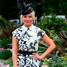 Holly Willoughby poses during day four of Royal Ascot at Ascot Racecourse