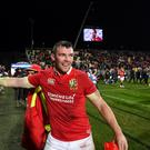 Peter O'Mahony of the British & Irish Lions following the match between Crusaders and the British & Irish Lions at AMI Stadium in Christchurch, New Zealand. (Photo By Stephen McCarthy/Sportsfile via Getty Images)