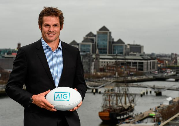 AIG Ambassador Richie McCaw caught up with the Irish Independent's Ruaidhrí O'Connor on a tour of his home city of Christchurch which is still rebuilding following the devastating 2011 earthquake. AIG is the official insurance partner of the All Blacks and was one of the first insurers on the ground after the quakes. Picture credit: Stephen McCarthy / SPORTSFILE