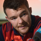 Peter O'Mahony of Munster during a press conference at University of Limerick in Limerick. Photo by Diarmuid Greene/Sportsfile