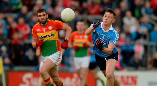 Con O'Callaghan, seen here in action against Carlow, is one of the few new faces in the Dublin set-up this season. Photo by Daire Brennan/Sportsfile