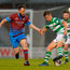 Luke Byrne of Shamrock Rovers in action against Colm Deasy of Drogheda United. Photo by Piaras Ó Mídheach/Sportsfile