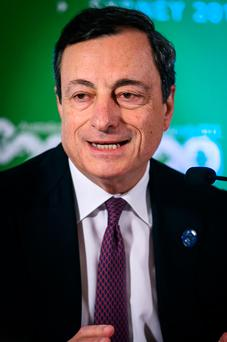 ECB president Mario Draghi Photo: Bloomberg
