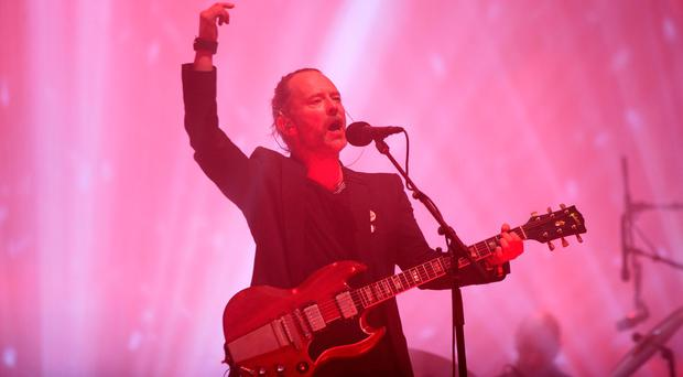 Thom Yorke of Radiohead performs on The Pyramid Stage at the Glastonbury Festival, at Worthy Farm in Somerset: Yui Mok/PA Wire