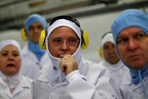 Brazil's Agriculture Minister Blairo Maggi looks on during a technical visit at the Brazilian meatpacker JBS SA in the city of Lapa, Parana state, Brazil, March 21, 2017. REUTERS/Ueslei Marcelino/File photo