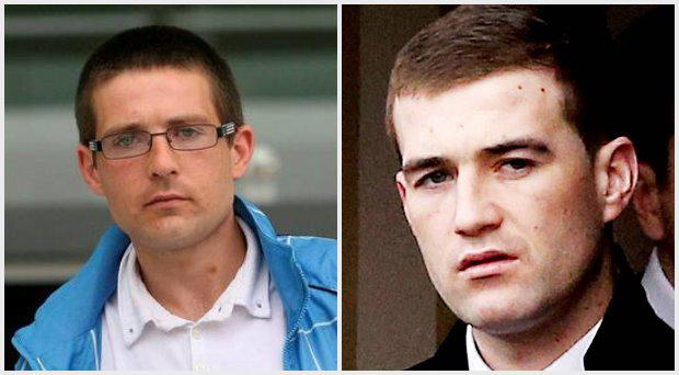 Alan Hutch (left) and Ross Hutch had an altercation