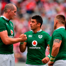 Ireland players Devin Toner, Tiernan O'Halloran and Andrew Porter