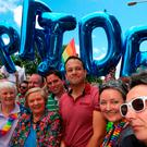 Taoiseach Leo Varadkar attends the Dublin LGBTQ Pride Festival in Ireland : Laura Hutton/PA Wire