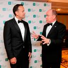 Prince Albert II of Monaco (right) and Taoiseach Leo Varadkar attend the 32nd Annual Conference Gala Dinner of The Ireland Funds at Powerscourt Hotel, Enniskerry. Photo credit: Mark Stedman/PA Wire