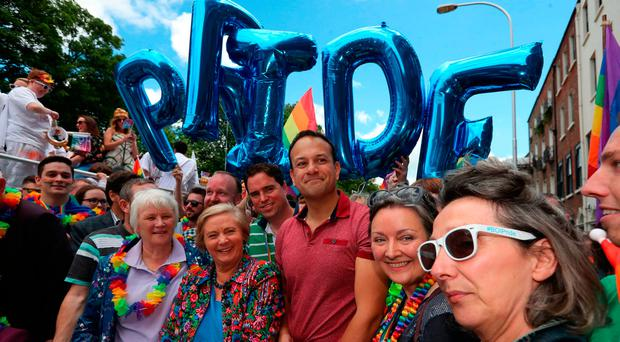 Leo suffers from a prejudice that many LGBT people in Ireland are confronted by. They are expected to be left wing. And because Leo isn't a left liberal gay, he is basically made out to be Margaret Thatcher. Picture: Laura Hutton/PA Wire