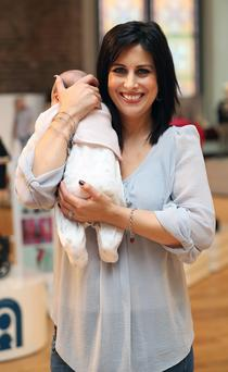 TV presenter Lucy Kennedy with baby Jessica, child number three, who was born last December