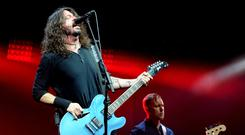 Dave Grohl of Foo Fighters performs headlining the Pyramid stage on day 3 of the Glastonbury Festival 2017 at Worthy Farm, Pilton on June 24, 2017 in Glastonbury, England. (Photo by Shirlaine Forrest/WireImage)