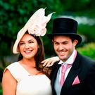 Kelly Brook and Jeremy Parisi attend Royal Ascot 2017 at Ascot Racecourse on June 24, 2017 in Ascot, England. (Photo by Stuart C. Wilson/Getty Images)