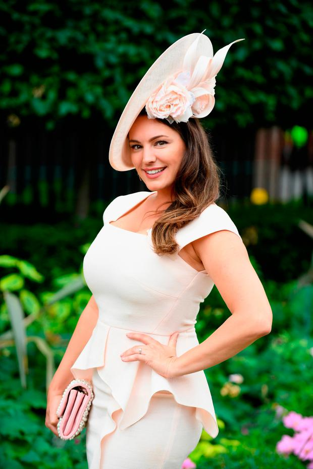 Kelly Brook attends Royal Ascot 2017 at Ascot Racecourse on June 24, 2017 in Ascot, England. (Photo by Stuart C. Wilson/Getty Images)