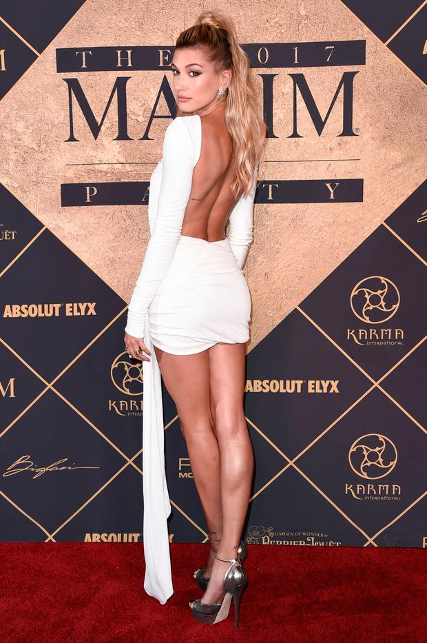 Hailey Baldwin attends the 2017 MAXIM Hot 100 Party at the Hollywood Palladium on Saturday,