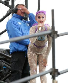 Katy Perry performing on the Pyramid Stage at the Glastonbury Festival, at Worthy Farm in Somerset. PRESS ASSOCIATION Photo. Picture date: Saturday June 24, 2017. See PA story SHOWBIZ Glastonbury. Photo credit should read: Yui Mok/PA Wire EDITORIAL USE ONLY