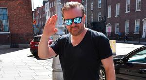 Ricky Gervais arrives at The Merrion Hotel ahead of his gig in the 3Arena
