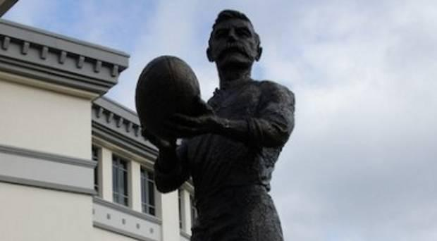 Cast in bronze: the Dave Gallaher statue at Eden Park