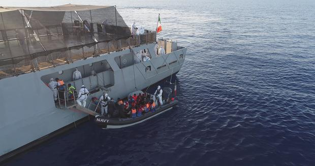 LÉ Eithne Rescues 183* Migrants 40KM North West of Tripoli During Two Separate Operations