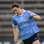 Sinéad Aherne of Dublin celebrates scoring her side's first goal during the TG4 Ladies Football All-Ireland Senior Championship Semi-Final game between Dublin and Mayo at Kingspan Breffni Park in Cavan. Photo by Piaras Ó Mídheach/Sportsfile