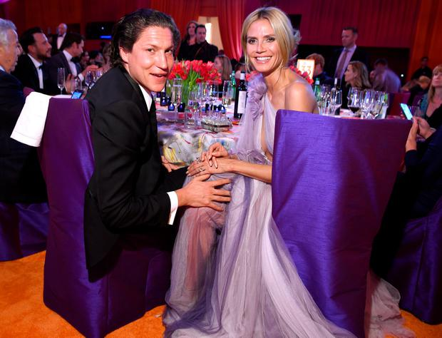 Vito Schnabel (L) and tv personality Heidi Klum attend the 24th Annual Elton John AIDS Foundation's Oscar Viewing Party at The City of West Hollywood Park on February 28, 2016 in West Hollywood, California. (Photo by Dimitrios Kambouris/Getty Images for EJAF)