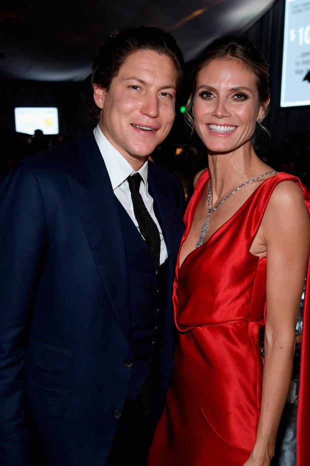 Vito Schnabel (L) and model Heidi Klum attend the 25th Annual Elton John AIDS Foundation's Academy Awards Viewing Party at The City of West Hollywood Park on February 26, 2017 in West Hollywood, California. (Photo by Dimitrios Kambouris/Getty Images for EJAF)