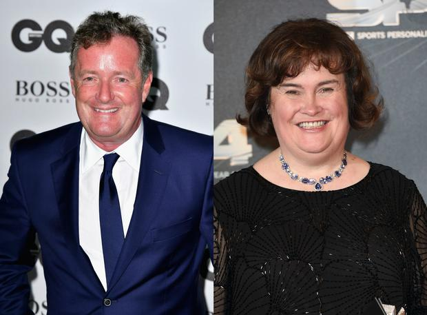 Piers Morgan (L) and Susan Boyle. Images: Getty