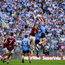 Brian Fenton of Dublin climbs highest to win a high ball during the Leinster GAA Football Senior Championship Semi-Final match between Dublin and Westmeath at Croke Park in Dublin. Photo by Eóin Noonan/Sportsfile