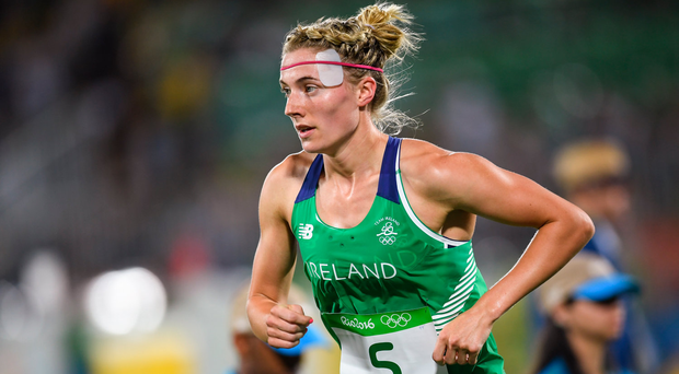 Coyle ran the first two laps of 800m, each including firing at five targets, and maintained Ireland's advantage over the chasing pack, led by France, Egypt and Russia. Photo by Ramsey Cardy/Sportsfile