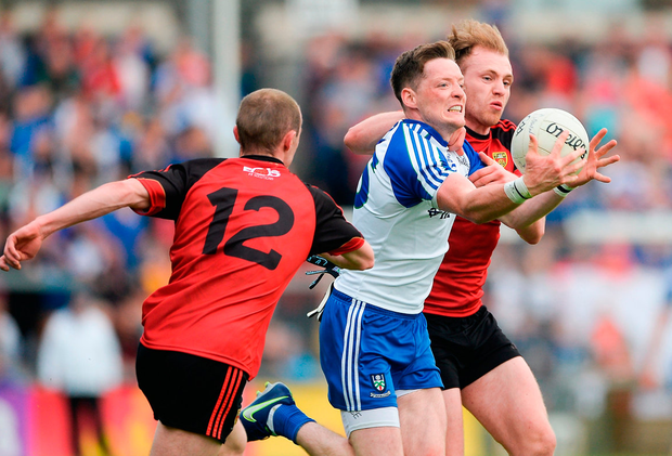 Conor McManus was shackled by the Down defence. Photo: Daire Brennan/Sportsfile