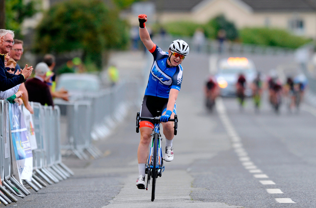 Lydia Boylan of Team WNT winning the Elite Women Road Race at the National Cycling Road Race Championships in Wexford. Photo by Stephen McMahon/Sportsfile