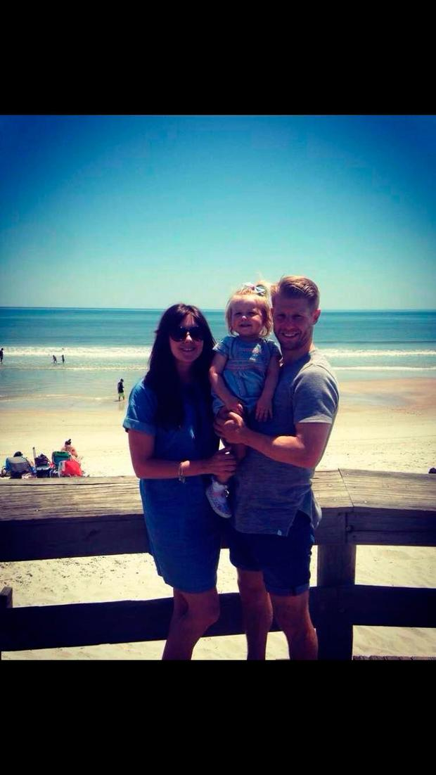Richie Ryan with his wife Nik and daughter Polly in Miami.