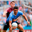 Bernard Brogan of Dublin in action against Noel Mulligan of Westmeath. Photo: Ray McManus/Sportsfile