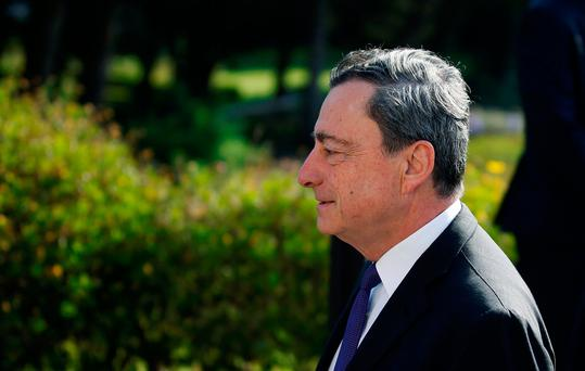 European Central Bank President Mario Draghi arrives at the ECB Forum in Sintra, Portugal. Photo: REUTERS