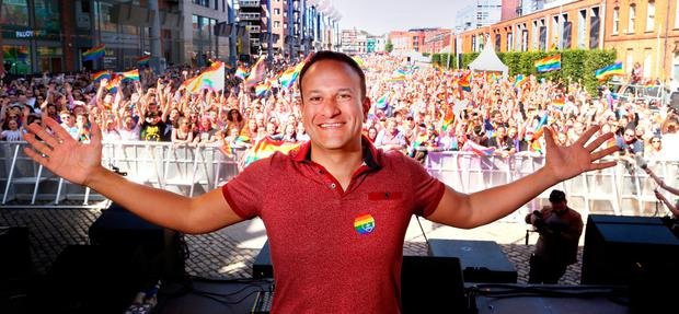 Taoiseach Leo Varadkar at Pride. Photo: Gerry Mooney