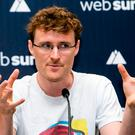 Websummit Founder Paddy Cosgrave pictured at a Press Confrence in The Shelbourne Hotel.