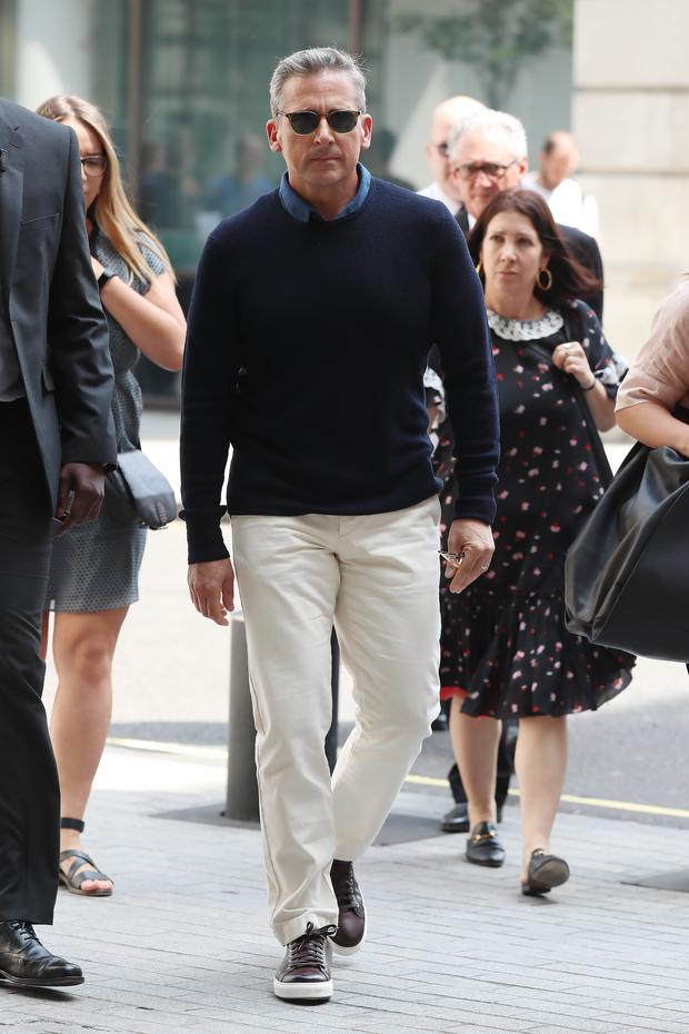 Steve Carell seen at BBC Radio One promoting his new movie 'Despicable Me 3' on June 21, 2017 in London, England. (Photo by Neil Mockford/GC Images)