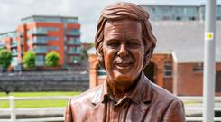 Rory Breslin's statue of Terry Wogan beside the Shannon has encountered a mixed reception. Photo: Alan Place