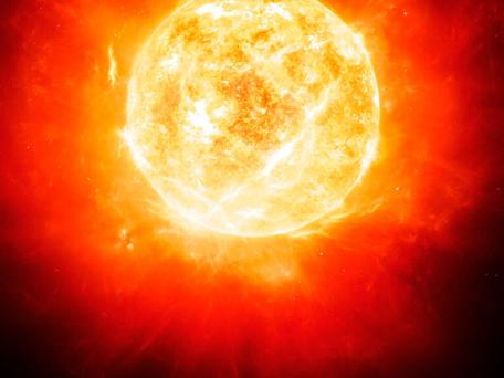 An artist's impression of Betelgeuse, a star 1,000 times bigger than our Sun