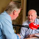 Former OCI president Pat Hickey talks to Paul Williams. Photo: Mark Condren