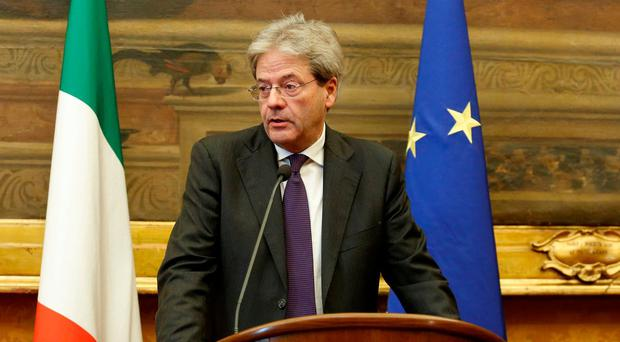 Italian prime minister Paolo Gentiloni's government liquidated the banks