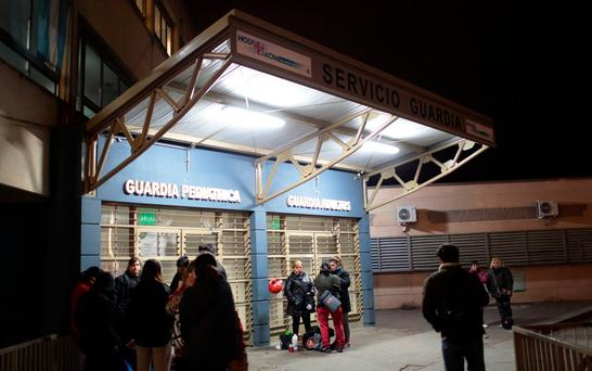 People wait outside Schestakow Hospital after a bus carrying a children's dance company collided with a truck and turned over on a highway outside San Rafael, in San Rafael, Argentina, June 25, 2017.