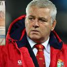 Lions coach Warren Gatland and (inset) The New Zealand Herald. CREDIT: GETTY IMAGES