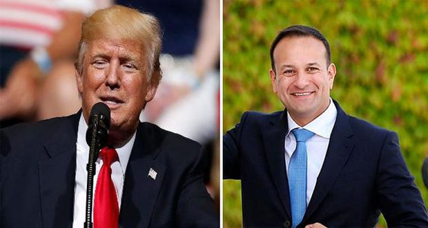 US president Donald Trump and Taoiseach Leo Varadkar