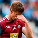 A dejected John Heslin of Westmeath after the Leinster GAA Football Senior Championship Semi-Final match between Dublin and Westmeath at Croke Park in Dublin. Photo by Daire Brennan/Sportsfile