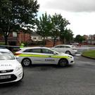 Gardaí at the scene in Ashington, Cabra (Photo: Kyran O'Brien)